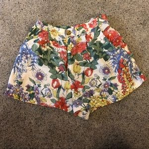 Urban Outfitters high waisted botanical shorts